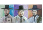 왼쪽부터 복자 윤지충 바오로, 권상연 야고보, 윤지헌 프란치스코 초상화 <자료제공 : CBCK>